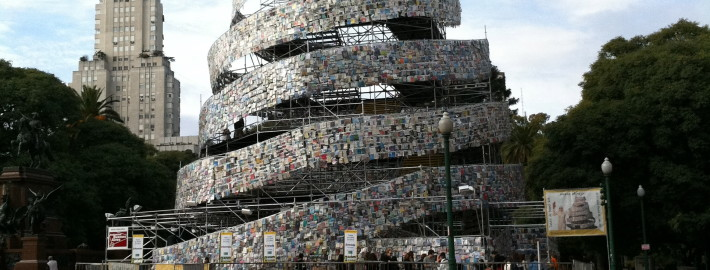Babel tower of books